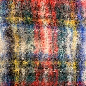 Tweedbrae 70% Mohair 30% Wool Scotland Plaid Scarf